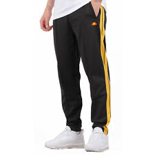 Ellesse Cassed Tracksuit Bottoms Pants Joggers Black & Yellow Size M