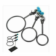 3pcs Laboratory Metal Iron Support Ring Lab Stand Loop Kit With Jackscrew Tools