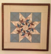 """Detweiler Quilt Mosaic """"Circling Doves"""" Folk Art Abstract Signed numbered Frame"""
