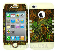 KoolKase Hybrid Silicone Cover Case for Apple iPhone 4 4S - Camo Mossy 02