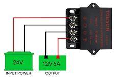 Dc 24v Step Down To Dc 12v 5a 60w Voltage Regulator Buck Converter Reducer
