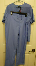 Medical Scrubs 2 Piece Blue Small Drawstring Waist
