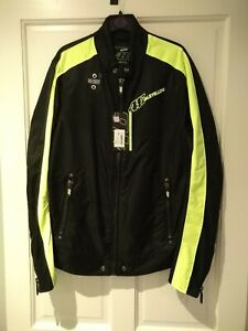 VR46 Official Valentino Rossi Black men's Biker Jacket  - VRMJK 263604 Small