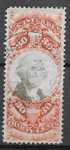 USA Revenue Scott R140 30c orange and black very nice stamp see scans