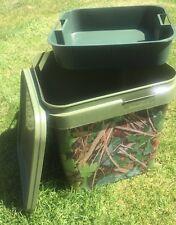 17LTR Mimetico Carp Bait Bucket PLUS INSERTO, pesca della carpa/particelle/PELLET/ECT