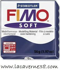 Pain de pâte polymère FIMO Soft 35 bleu windsor création bijoux perles