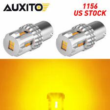 1156 7506 Led Amber Yellow Turn Signal Light Blinker Indicator Bright Bulbs Eon
