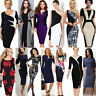 Women's Elegant Business Career Bodycon Evening Party Wear to Work Office Dress