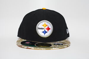 Pittsburgh Steelers New Era 59fifty NFL Salute To Service 2014 Sz 7 1/2