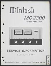 McIntosh mc-2300 Original Power Amplifier service-manual/schéma de branchement/Diagram