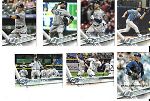 2017 Topps All-Star Game Silver Parallel Baseball Team Set - Tampa Bay Rays!!