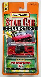 """1999 Matchbox Star Cars """"Magnum P.I."""" Ferrari 308 GTB RED"""