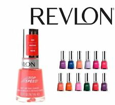 Lot of 5 Revlon op Speed Finger Nail Polish Color Lacquer All Different Colors