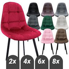Esszimmerstühle Esstischstühle pflegeleichte Küchenstühle in Samt und Lederoptik