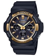 BRAND NEW CASIO G-SHOCK GAS100G-1A BLACK/GOLD ANA-DIGI SOLAR MENS WATCH NWT!!!