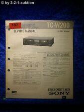 Sony Service Manual TC W200 Cassette Deck  (#0187)
