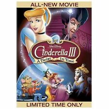Cinderella III: A Twist in Time DVD 2007 DISNEY WHAT IF THE SLIPPER DIDN'T FIT?