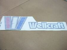 "NOS OEM WELLCRAFT BOAT 6"" HIGH X 20"" WIDE STARBOARD NAMEPLATE W2602-2851"