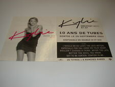 KYLIE MINOGUE GREATEST HITS 87-97 FRENCH PROMO STICKER