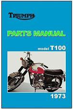 TRIUMPH Parts Manual T100 T100R Daytona 1973 Replacement Spares List Catalog