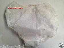 DISPOSABLE LADIES WHITE UNDERWEAR (10/Pkt) DISPOSABLE PANTIES (L) 23cm