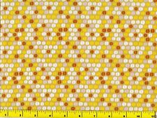 White Brown Tan & Yellow Coffee Beans Quilting Fabric by Yard  #786b