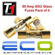 Controlli audio T1 t1-60 Auto Amp cablaggio - 60 Amp auto amplificatore AGU in vetro fusibili (confezione da 4)
