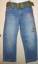 South Pole Junior Low Rise Embellished Cropped Denim Jeans + Canvas Belt 5 NWT