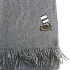 Étole cachemire laine grise - châle plaid foulard gris écharpe 40% cachemire