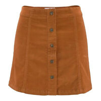 wow Cord ROCK Mini Kord Retro 70er Gr.46 COGNAC SKIRT Kordrock kurz STRETCH