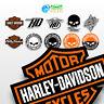 1x Klebstoffe Harley Davidson Logo Replica Moto Benutzerdefinierte Helm Helmet