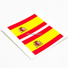 2x SPANISH FLAG Spain España Laminated Car,Bumper,Laptop Vinyl Decal Stickers