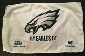 """2018 Super Bowl LII Philadelphia Eagles """"Fly Eagles Fly"""" Towel from Game 17x11"""
