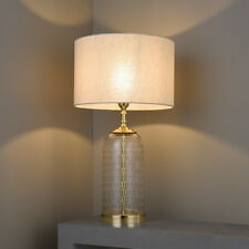 Endon Wistow Table Lamp Base 60W E27 GLS Solid Brass & Hand Cut Chiselled Glass