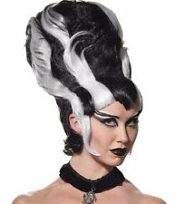 Bride of Frankenstein Costume Wig Monster White and Black Beehive - Fast Ship -