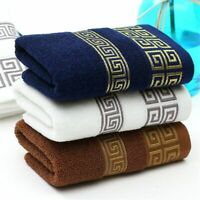 Woven Bath Towel Egyptian Cotton Twill Embroidered Thick Solid Square Face Robe