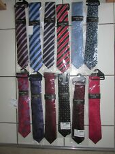 NEW 12 x RARE Extra Long Double Two Ties red-purple-pink-blue-black Classic/WIDE