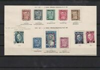 albania 1928 overprint  mounted mint + used stamps cat £125+ ref 7623