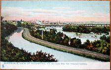 1908 Raphael Tuck Postcard: Bird's Eye View, James River - Richmond, Virginia VA