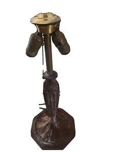 antique cast iron lamp base
