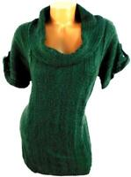 Maurices green short sleeves cowl neck cable knits plus pullover sweater top XXL