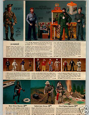 1971 PAPER AD 2 Pg G I Joe Action Figure Headquarters Jeep Motorcycle ATV Tent