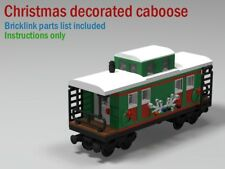 Christmas train caboose CUSTOM INSTRUCTIONS ONLY for lego bricks