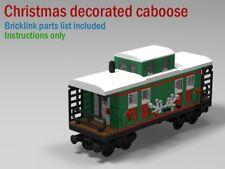 Christmas train caboose CUSTOM INSTRUCTIONS ONLY for lego bricks