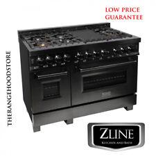 "New Zline 48"" Black Stainless 7 Gas Burner/Electric Oven Range (Rab-48)"