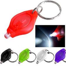 1PCS 5 Colors LED Mini Light Torch Key Chain Ring Keyring Color Random CA