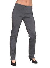 (1172) ladies skinny casual trousers school grey 6-16