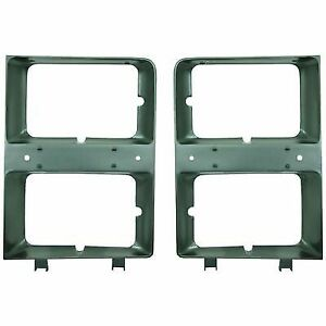 Pack Set of 2 Headlight DoorBezel Left & Right Side Primered for Blazer Chev