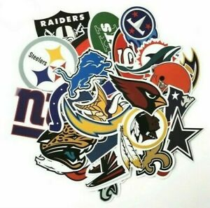 NFL Teams Logo Decal Vinyl Stickers for Truck/Skateboard/Luggage/Laptop/Party