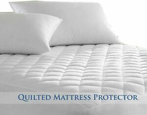 100% Cotton Quilted 40cm Extra Deep Fitted Mattress Topper Protector King Size